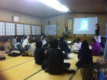 守網寺での講演会