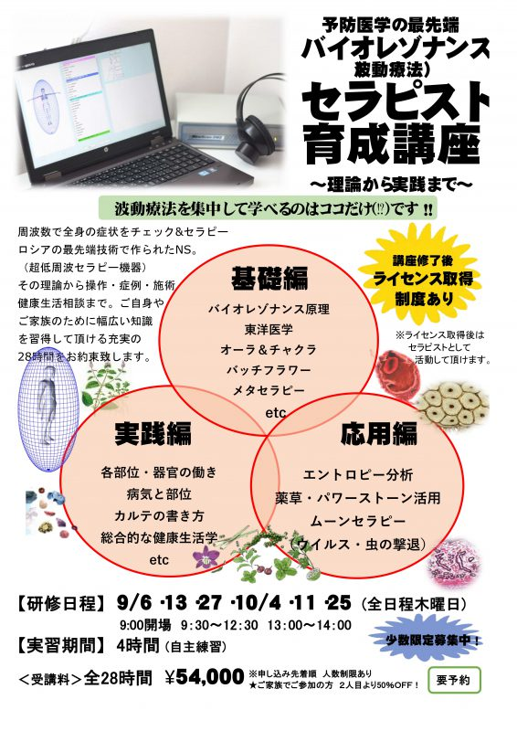 波動セラピスト育成講座 メタトロン・ニュースキャン(5日目)