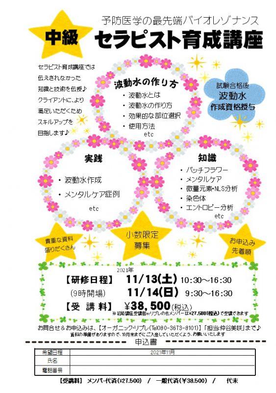 中級セラピスト育成講座・秋 (2日目)