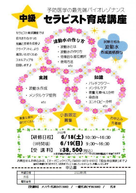 中級セラピスト育成講座・2022年春 (2日目)